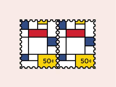 Stamp Mondrian