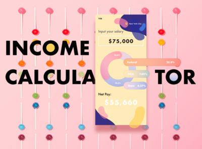 Day 3 Income Calculator design branding illustration daily ui challenge