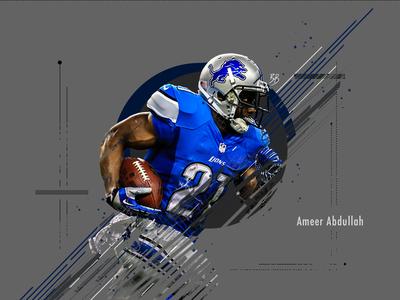 Ameer Abdullah Sports Poster sports design poster design digital design photoshop
