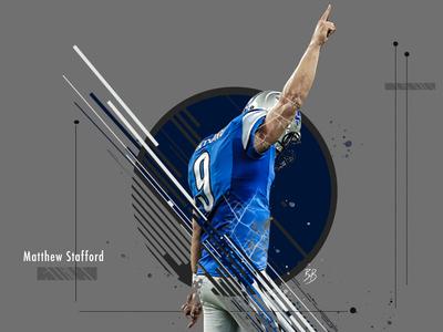 Matthew Stafford Sports Poster photoshop sports design poster digital design design