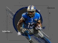 Golden Tate Sports Poster