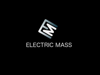 Electric Mass (Logo Challenge) typography simplicity minimal mass electric brandig digital design design gradient adobe illustrator logo challenge