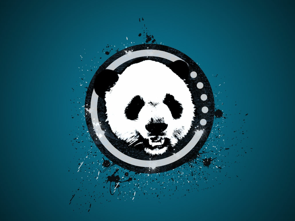 Panda Logo texture panda logochallenge poster ui illustration digital design photoshop