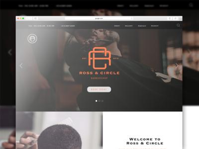 Ross & Circle Barbershop Branding Project