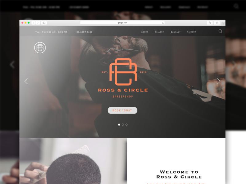 Ross & Circle Barbershop Branding Project adobe illustrator photoshop adobe xd landign page web  design illustration ux brandig ui digital design