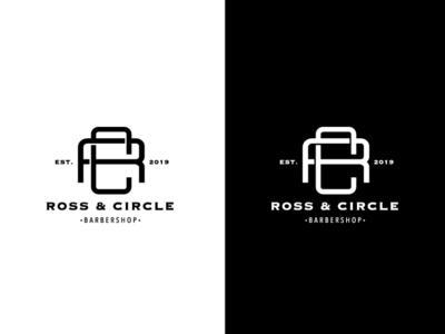 Ross & Circle Barbershop Branding Project ui  ux ux vector illustration brandig ui logo