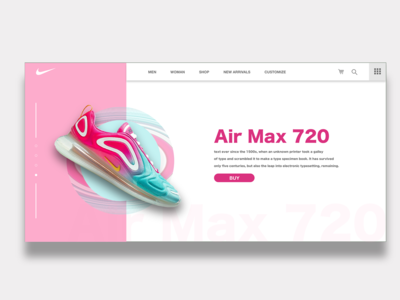 Nike Air Max 720   Daily Ui Design graphicdesign photoshop adobe xd landingpage userinterface user experience web design webdesign ux shoe creative ui digital design