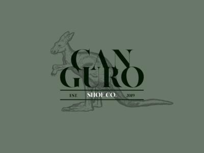 Cabguro | Shoe Co.| Logo Design customsketch illustrator kangaroo type vintage logo branding logo specs