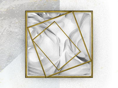 Gold + Plaster + Square