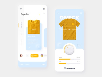 Clothes App uidesign neumorphic store shop innovation mobile fashion ecommerce cloth app typography ux ui design