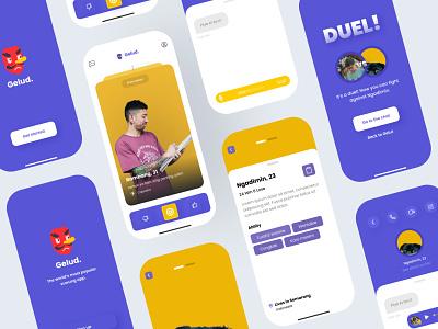 Fighting App ux ui typography neumorphic mobile innovation design app