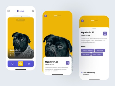 Fighting App #2 ux ui typography neumorphic mobile innovation design app