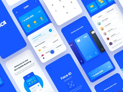 BCA Mobile Banking Redesign Concept prototyping interaction design fintech card bca finance banking app finance app ux ui mobile design app