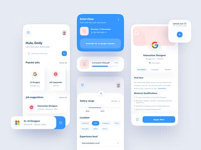 Job Finder App clean ui minimal job finder job minimalism minimalist innovation ux ui mobile design app