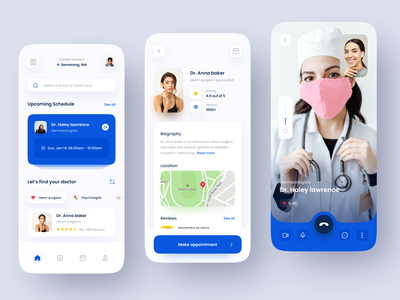 Medical Mobile App doctor appointment patient app medicine medical app healthcare health doctor hospital clinic clean minimal minimalist ux ui mobile design app
