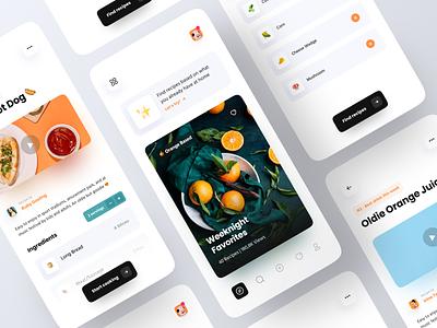 Recipe App Concept recipes ios app cooking app cooking food app cook recipe recipe app clean minimalist minimal ux ui mobile design app