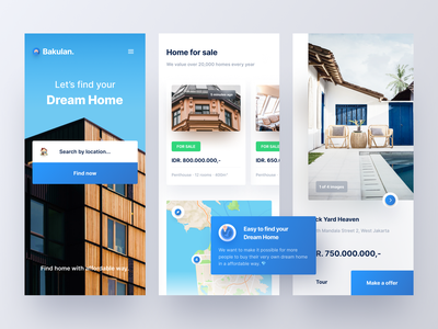 Real Estate App Concept property product home penthouse apartment housing properties home rent real estate clean minimalist minimal innovation ux ui mobile design app