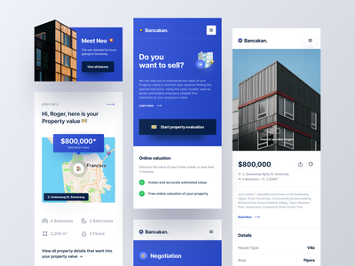 Bancakan - Mobile Valuation Page offer product design property apartment home rent responsive minimalist clean valuation real estate minimal ux ui mobile design app