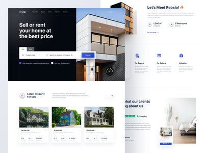 Real Estate Homepage house web design homepage property apartment properties website rent home real estate product product design minimalist minimal ux ui app