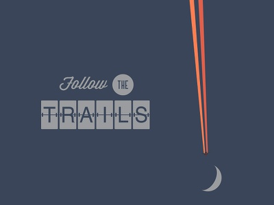 Follow The Trails follow the trails airplane night moon minimal