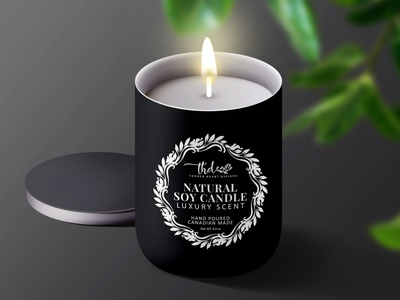 Soy Candle Product Label Design. candle label wax label dribbble design label packaging branding packaging design package design labeldesign