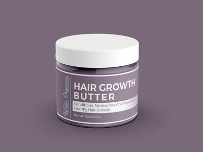 Hair Growth Butter Label Design. logodesign logo shorts short label dribbble design label packaging branding labeldesign packaging design package design