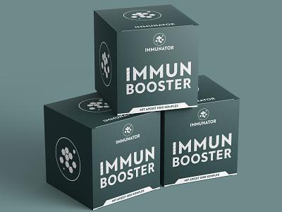 Immune booster box packaging design. label packaging branding packaging design package design labeldesign design packaging box booster immune