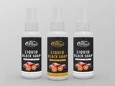 Liquid Black Soap Label Design