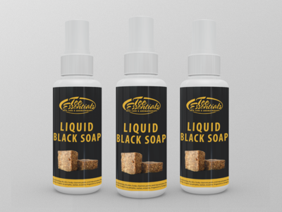 Liquid Black Soap Label Design