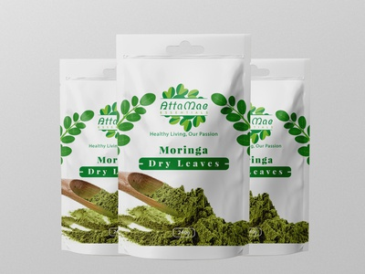 Moringa Powder Label Design.