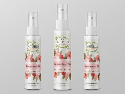 Rosenwasser label and mockup design.