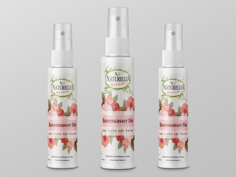 Rosenwasser label and mockup design. beauty product dribbble design shorts short logo label packaging branding packaging design package design labeldesign label