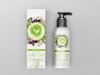 Herbal Shampoo Packaging Design