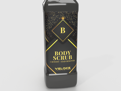 Body Scrub Label Design