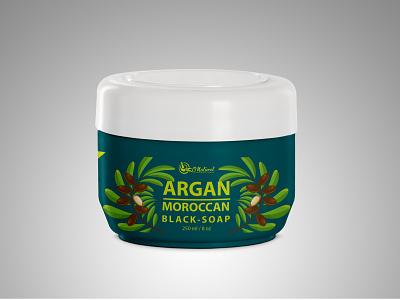 Argan Moroccan Black Soap Product Label Design black soap moroccan product argan label design product label design label packaging labeldesign packaging design package design