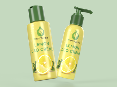 Lemon Deo Creme Label Design