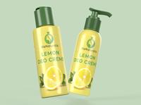 Lemon Deo Creme Label Design