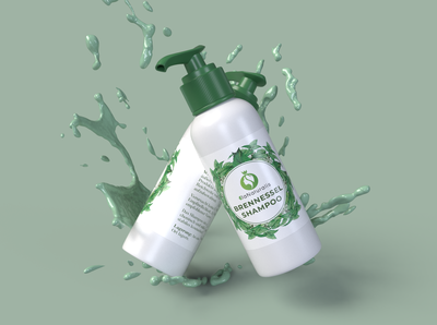 Brennessel Shampoo Product Label Design.