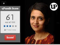 uPundit Score score anchor media social vote voice star