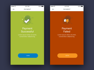 Payment - Successful & Failed