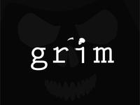 Grim logo typography