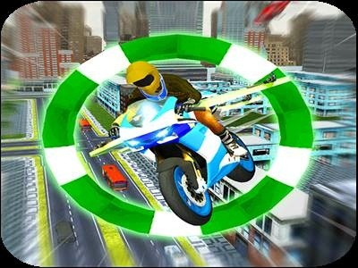 Flying Motor Bike City Transport game android pilot shoot airplane stunts smash motorbike futuristic passengers bouncing driving transport city bike motor flying
