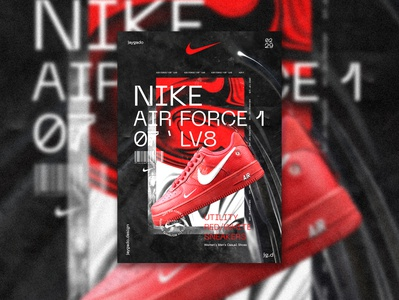 Air Force 1 Nike Poster abstract poster abstract design vintage design illustrator typography art typography design photoshop nike typography identity minimal logo graphic design branding