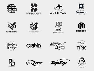 LOGO <marks&icons> iconography icondesigner logotype graphicdesign simple cleanart illustrator vector symbols icon flat typography identity brand minimal logo branding