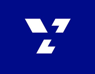 ys<> LOGO with BLUE BACKGROUND typography flat icon branding identity brand minimal logo design graphic design