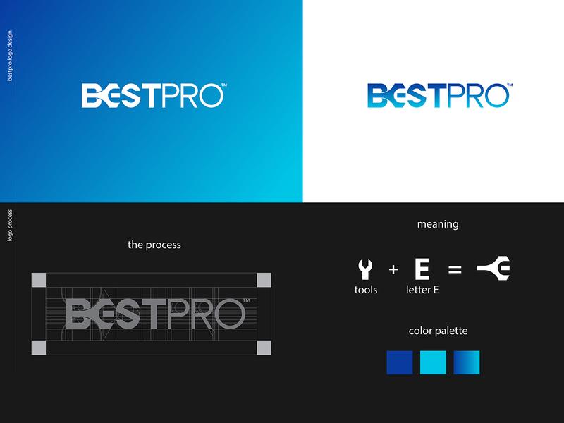 BestPro Logo Concept icon flat typography identity brand minimal logo design graphic design branding