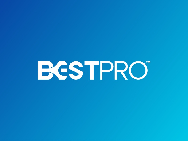 BestPro Logo Design icon flat typography identity brand minimal logo design graphic design branding
