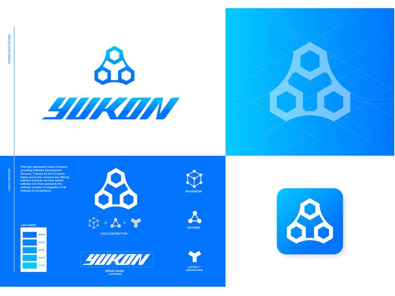 Yukon Logo Concept Option 1 marksizm symbol icon icon flat typography identity brand minimal logo design graphic design branding