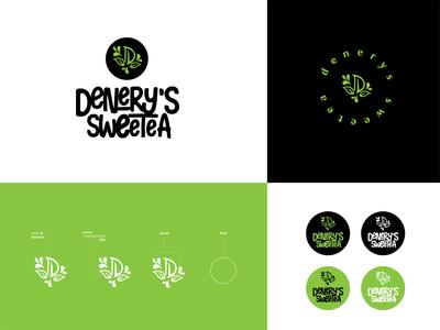 DENERY S SWEETEA LOGO DESIGN logos milktealogo milktea symbol icon logomarks flat icon typography identity brand design logo minimal graphic design branding