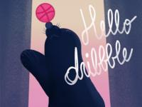 Dribbble debut - juggling seal